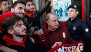 Galatasaray kafilesi Gaziantepe geldi