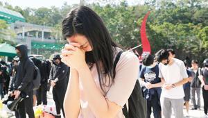 Hong Kongda üniversiteli kurban için yas
