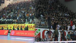 Voleyboldaki Göztepe - Karşıyaka maçında olay Görüntüler...