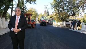 Pazarcıkta asfalt serim çalışmaları başladı