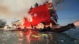 Maltepeliler havada, karada ve denizde Atatürkü andı