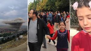 İşçilerin kaldığı prefabrike bina yandı yanındaki okul tahliye edildi