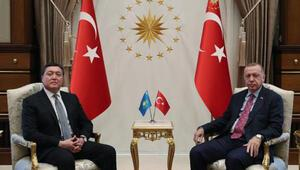 Cumhurbaşkanı Erdoğan, Kazakistan Başbakanı Mamini kabul etti