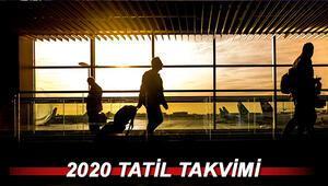 Bu yıl kaç gün tatil yapacağız (Ramazan ve Kurban Bayramı tatili) 2020 tatil takvimi