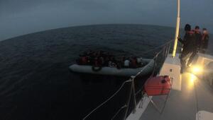 Çanakkalede 70 kaçak göçmen yakalandı