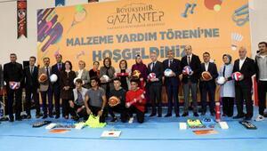 Gaziantepte 518 okula spor malzemesi dağıtıldı