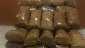 Malatyada, 450 kilo kaçak tütün ele geçirildi