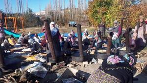 Hisarcık'da köylüler yağmur duasına çıkı