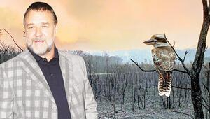Russell Crowe da yangınzede