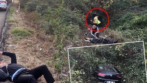 TEMde kaza... Görenler yardıma koştu