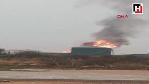 Süt fabrikasında yangın: 1 işçi yaralı