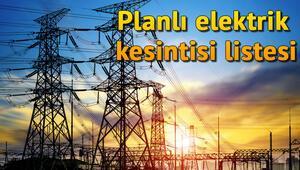 14 Kasım İstanbulda planlı ve arıza kesintileri hangi bölgelerde Elektrikler ne zaman gelecek