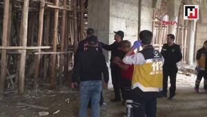 Cami inşaatında çökme meydana geldi