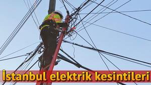 15 Kasım İstanbul elektrik kesinti listesi | Elektrikler ne zaman gelecek