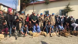Barış Pınarı Harekatına destek için 15 kurban kesildi