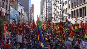 Arjantinde Moralese destek gösterisi