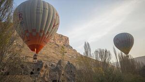 Kayserinin Kapadokyasında ilk balon heyecanı