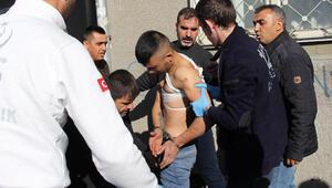 Polise jiletle saldıran şüpheli, çıkan arbedede vuruldu