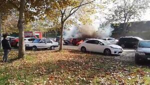 Bursada mangal kömürü iki arabayı yaktı