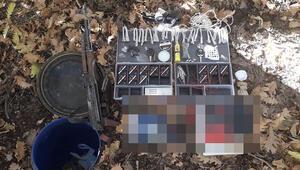 Bingöl'de, teröristlere ait silah ve mühimmat ele geçirildi