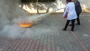 İtfaiyeden öğrencilerine yangın eğitimi