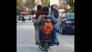 5 kişinin elektrikli bisiklette akıl almaz yolculuğu