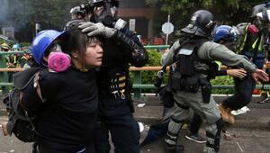 Hong Kongda maske yasağı bir hafta daha yürürlükte kalacak