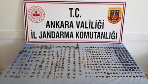 Ankarada tarihi eser operasyonu: 1 gözaltı