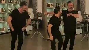 Azerbaycana giden Cem Yılmazdan Azeri dansı