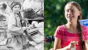 121 yıllık fotoğrafta Greta Thunbergi andıran kız tartışma yarattı