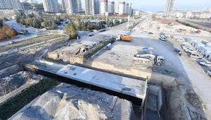 Eskişehir Yolu'nda alt geçit çalışmaları devam ediyor