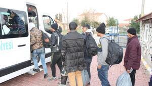 Tekirdağda 35 kaçak göçmen yakalandı