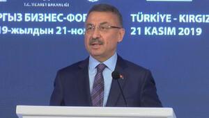 Fuat Oktay Türkiye-Kırgızistan İş Forumunda konuştu