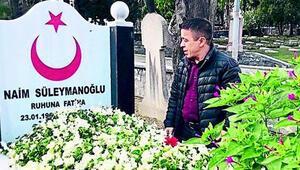 Halil Mutlu, Naim Süleymanoğlu'nun mezarı başında