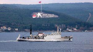 Rus araştırma ve istihbarat gemisi, Çanakkale Boğazından geçti