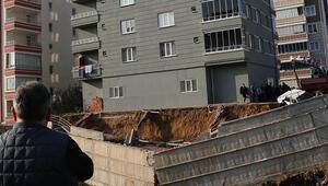 İstinat duvarı çöken bina sağlam çıktı