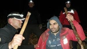 Uludağda kaybolan dağcı 7 saat sonra çıkardığı teneke sesinden bulundu