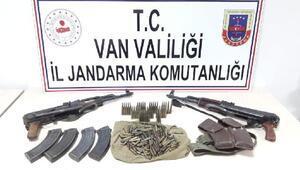 Çatakta PKKnın silah ve mühimmatı ele geçirildi