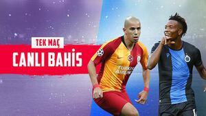 Galatasarayın konuğu Club Brugge Takımda 13 eksik, iddaada galibiyetlerine...