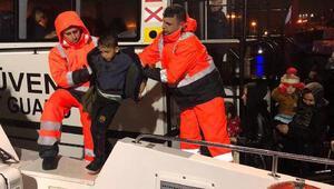Sürüklenen kaçaklar kurtarıldı