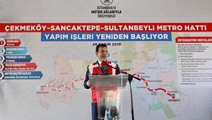 Çekmeköy-Sancaktepe-Sultanbeyli Metro Hattı çalışmaları yeniden başladı