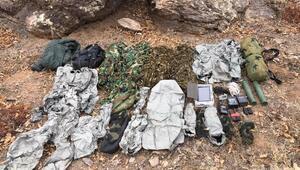PKKlı teröristlerin termal kamerada görünmemek için giydiği kıyafetler ele geçirildi