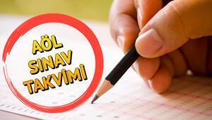 AÖL sınavları ne zaman yapılacak Açık Lise 1. dönem sınav tarihleri