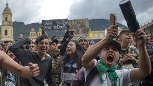 Kolombiyada hükümet karşıtı protestolar 7. gününü doldurdu