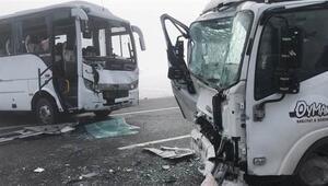 Karsta zincirleme trafik kazası