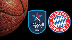 Anadolu Efes Bayern Münih basketbol maçı bu akşam saat kaçta ve hangi kanalda