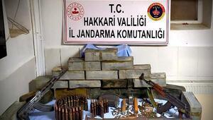 Hakkaride PKKnın silah ve mühimmatı ele geçirildi