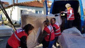 Türk Kızılay'ından Kırklarelide evleri yanan 5 aileye yardım
