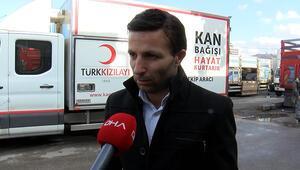 Ankarada atık toplayıcılarından Kızılaya kan bağışı
