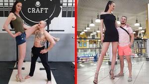 Dünyanın en uzun bacaklı kadınından isyan
